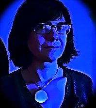 Catherine Malabou in Blue