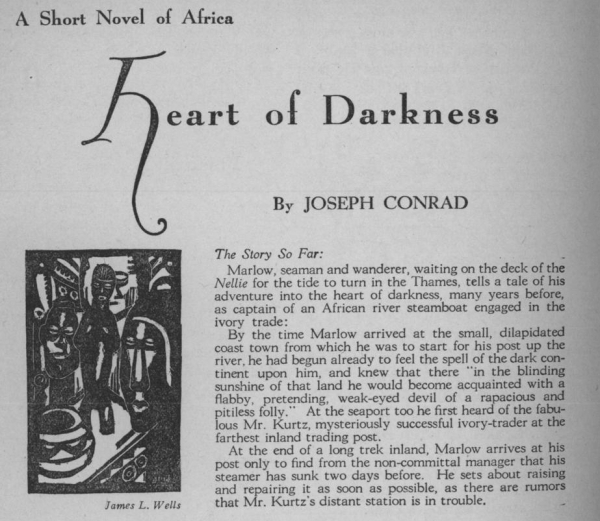 an analysis of charlie marlow in heart of darkness a novel by joseph conrad Post-colonial analysis of joseph conrad's heart joseph conrad's heart of darkness tells the journey of marlow characters of the novel marlow would like.